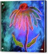 Shimmering Floral Acrylic Print