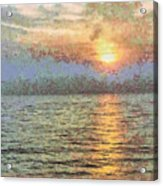 Shimmering Light Over The Water Acrylic Print