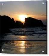 Shimmering Sands Sunset Acrylic Print