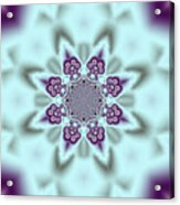 Shimmering Snowflake Acrylic Print