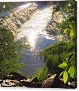 Shimmering Sun Rays On Colorado Springs Acrylic Print