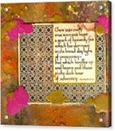 Shine Even In Adversity Acrylic Print