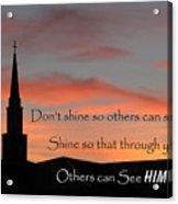 Shining Light Acrylic Print