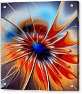 Shining Red Flower Acrylic Print