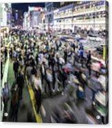 Shinjuku People Rush Acrylic Print