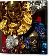 Shiny Masks In Venice Acrylic Print
