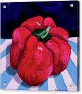 Shiny Red Acrylic Print
