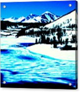 Shiny Snow Magic On Lake Acrylic Print