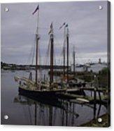 Ship At Dock. Acrylic Print