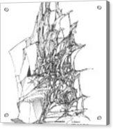 Ship Embedded In Rocks Acrylic Print