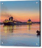 Ship Kaye Barker Reflections -8368 Acrylic Print