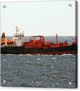 Ship Leaving Galveston Acrylic Print