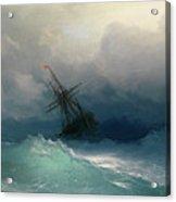 Ship On Stormy Seas Acrylic Print