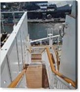 Shipboard Stairways Acrylic Print