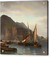 Shipping Off Gibraltar Acrylic Print