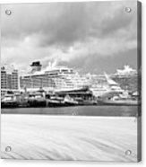 Ships All In A Row Acrylic Print