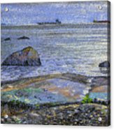 Ships And Stones Acrylic Print