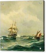 Ships At Sea Acrylic Print