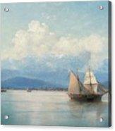 Ships Before The Caucasian Coast Acrylic Print
