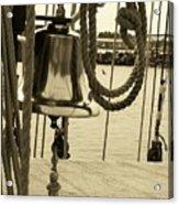 Ship's Bell Sepia Acrylic Print