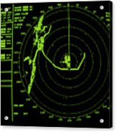 Ship's Radar Screen While In Port Acrylic Print