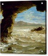 Shipwreck On The Coast  Acrylic Print