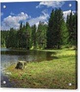 Shiroka Polyana Dam Acrylic Print