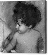 Shirtless Baby Acrylic Print