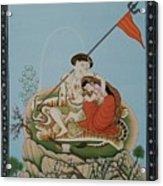 Shiva Romancing With Parvatti. Acrylic Print