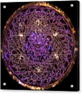 Shiva Shakti Coipper Lightmandala Acrylic Print