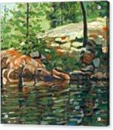 Shoal Lake - Granite Shore Acrylic Print
