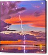Shocking Pinks Sunset Acrylic Print