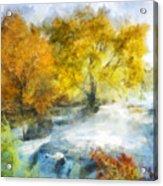 Shohola Falls Autumn Acrylic Print