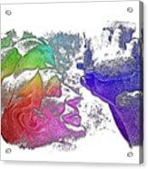 Shoot For The Sky Cool Rainbow 3 Dimensional Acrylic Print