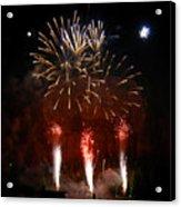 Shooting The Fireworks Acrylic Print