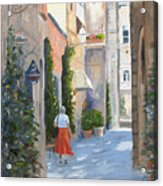 Shopping In Orvieto Acrylic Print