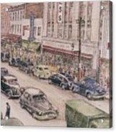 Shopping On Elm St. 1949 Acrylic Print