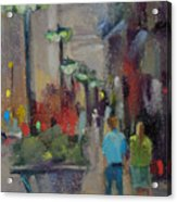 Shopping On The Mag Mile Acrylic Print