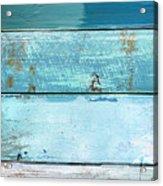Shore And Moonrise Acrylic Print