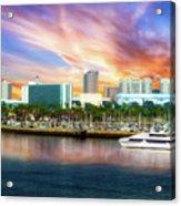 Shoreline Long Beach Ca 09 Acrylic Print