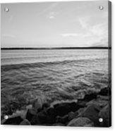 Shoreline Of Jamestown At Dusk Acrylic Print