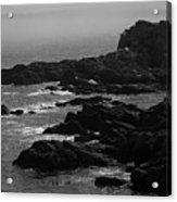 Shoreline - Portland, Maine Bw Acrylic Print