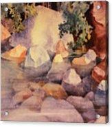 Shoreline Rocks Acrylic Print
