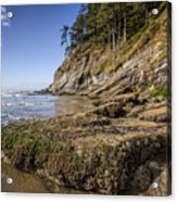 Short Sands Rocks Acrylic Print