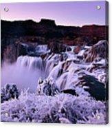 Shoshone Falls In Winter Acrylic Print