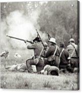 Shots Fired Civil War Acrylic Print