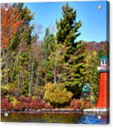 Shoul Point Lighthouse - Old Forge Acrylic Print