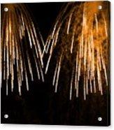 Shower Of Orange Colors Using Pyrotechnics Firework Acrylic Print