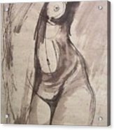 Showing Figure - Sketch Of A Female Nude Acrylic Print