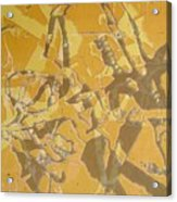 Shredded Notebook Stencil Acrylic Print by Ron Bissett